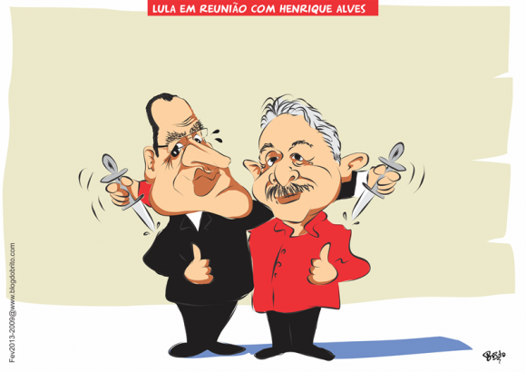 Lula e Henrique Alves