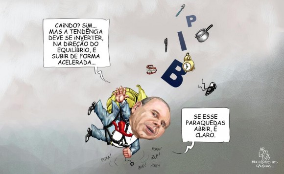 Guido e PIB despencando