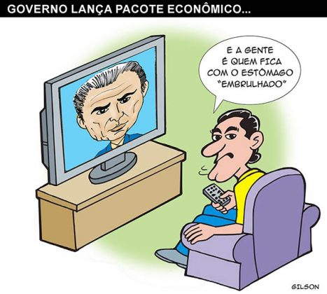 Charge Temer pacote 2